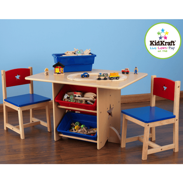 KidKraft Star Table and Chairs and Storage Bins - Salsa and Gigi Online Store