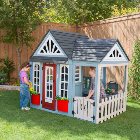 KidKraft Timber Trail Wooden Outdoor Playhouse Kids Cubby House - Salsa and Gigi Australia 01