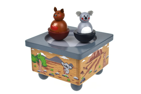 Koala and Kangaroo Music Box - Salsa and Gigi Australia MI128 01