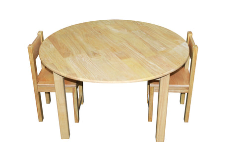 Large Wooden Round Table with 2 Standard Chairs - Salsa and Gigi Australia 01