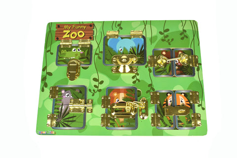 Latches Puzzle - My Funny Zoo - Salsa and Gigi Australia ET201 01