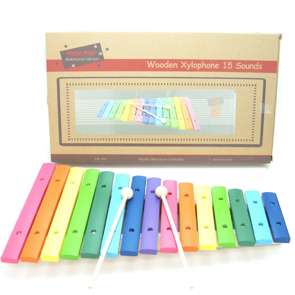 Large Xylophone in Multi Colours for Toddler Music - Salsa and Gigi