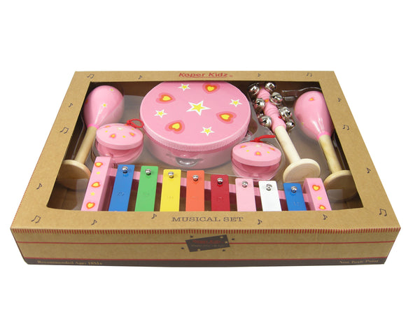 7 Piece Heart Musical Set - Salsa and Gigi