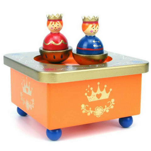 Wooden Wind Up Music Box Kingdom Children's Bedroom and Nursery Decor - Salsa and Gigi