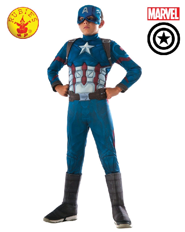 AVENGERS Captain America Civil War Deluxe Boys Costume - Salsa and Gigi