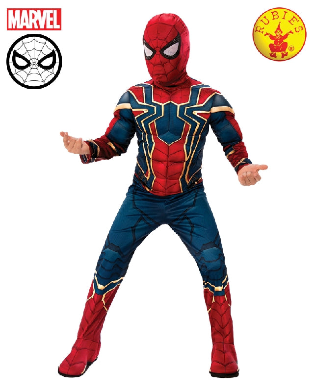 AVENGERS Iron-Spider Infinity War Deluxe Boys Costume - Sizes S, M, L - Salsa and Gigi