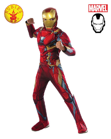 AVENGERS Iron Man Civil War Deluxe Boys Costume - Salsa and Gigi