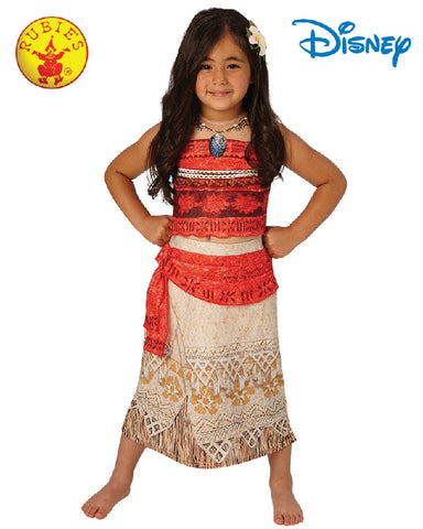 Disney MOANA Deluxe Princess Girls Costume - Size S, M, L - Salsa and Gigi