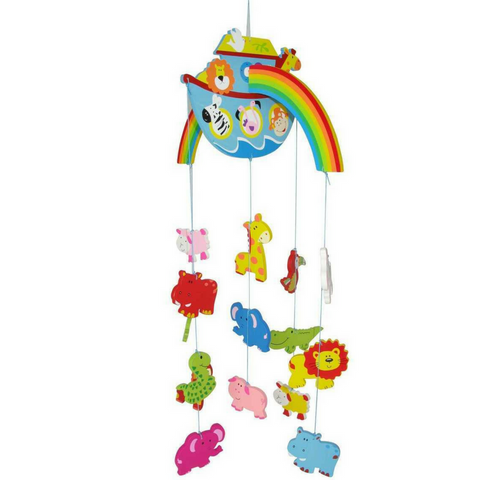 Colourful Noah's Ark Mobile with Rainbow, Boat and lots of Animals - Salsa and Gigi