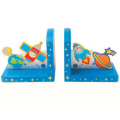 kaper kidz wooden bookends out of space design pretty bedroom nursery decor for kids and toddlers