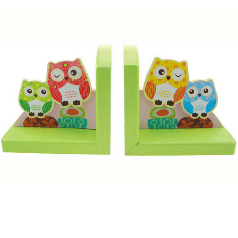 kaper kidz wooden bookends owl design pretty bedroom nursery decor for kids and toddlers