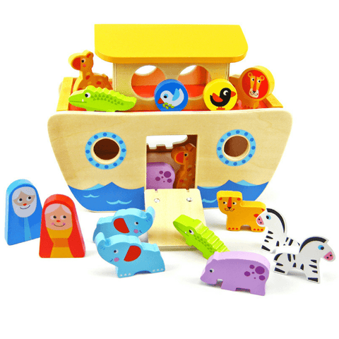 Classic Wooden Noah's Ark Animal Set - Salsa and Gigi