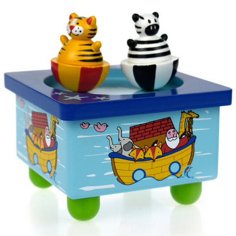 Wooden wind up Noah's Ark Music Box - Salsa and Gigi Australia