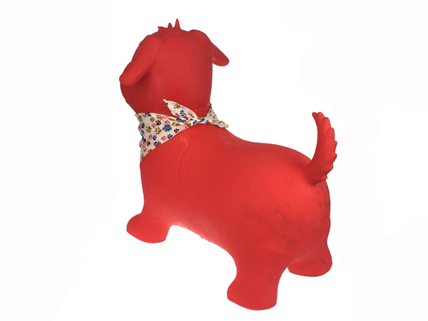 Bouncy Ride On Inflatable Toy - Red Dog - Salsa and Gigi