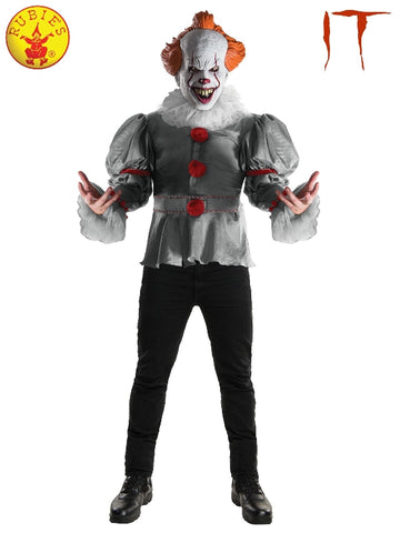 Pennywise IT Adult Clown Halloween Costume - Adult Sizes STD, XL