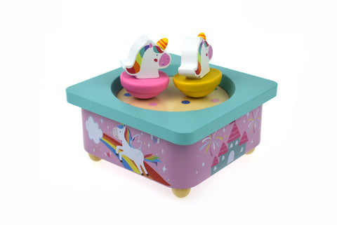 Pink Unicorn Magical Wind Up Music Box - Salsa and Gigi Australia NG23358 01