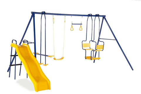 Plum 5 Unit Metal Swing Set and Slide - Salsa and Gigi Australia - Kids Outdoor Play 01