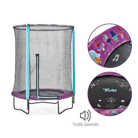 Plum Trolls 4.5ft Junior Trampoline with Enclosure & Sound - Salsa and Gigi Australia
