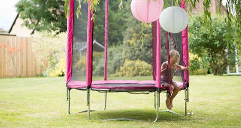 Plum 6ft Pink Trampoline - Salsa and Gigi Australia 01