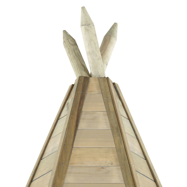 Plum Grand Wooden Teepee Hideaway - Salsa and Gigi Australia - Kids Outdoor Play 01