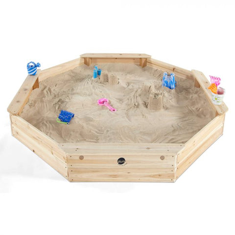 Plum Kids Large Giant Octagonal Wooden Sandpit - Salsa and Gigi Australia 01