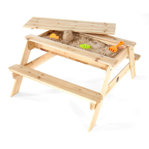 Plum Kids Wooden Sand Pit and Picnic Table - Salsa and Gigi Australia 01