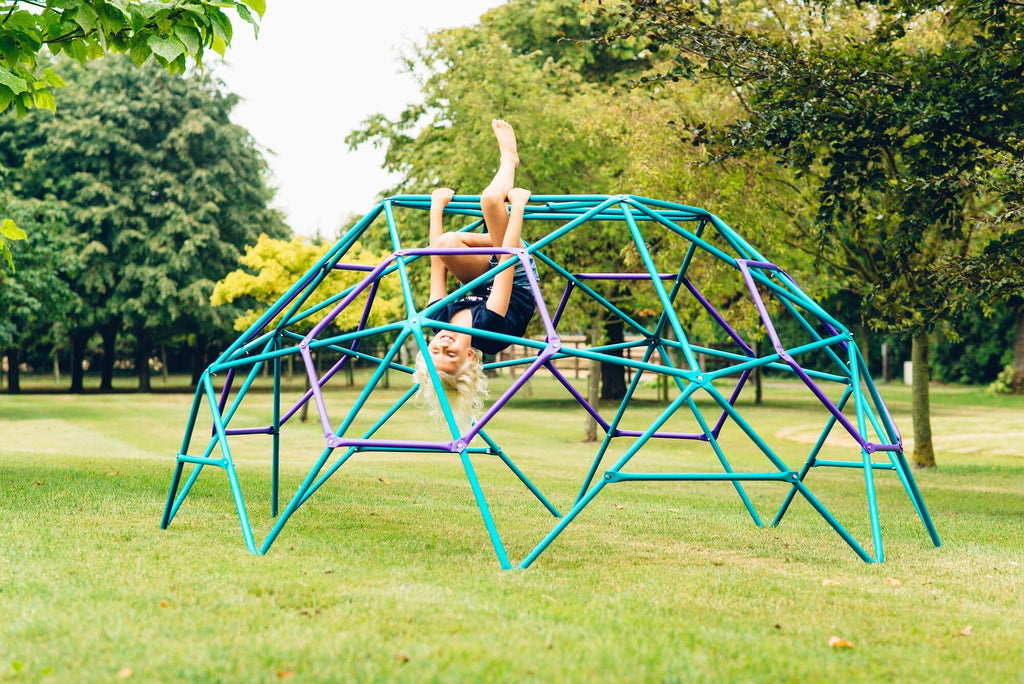 Plum Phobos Metal Dome in Teal and Purple - Salsa and Gigi Australia - Kids Outdoor Play 01