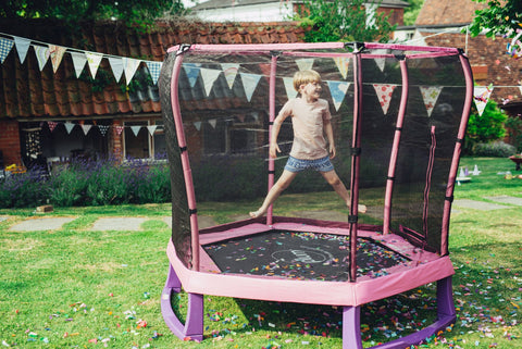 Plum® 7ft Junior Trampoline Spring Safe® Pink - Kids Outdoor Play - Salsa and Gigi Australia