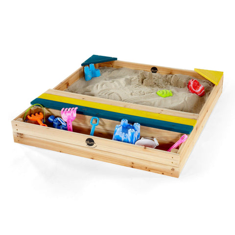 Plum Play Kids Wooden Sandpit with Storage - Salsa and Gigi Australia 01