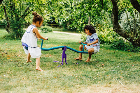 Plum See Saw Rotating Purple and Teal - Salsa and Gigi Australia - Kids Outdoor Play 01