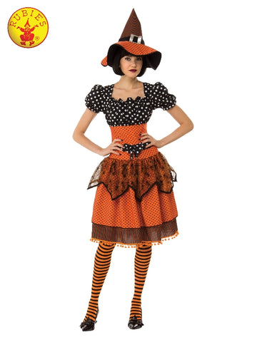 Polka Dot Witch Ladies Halloween Costume 821018