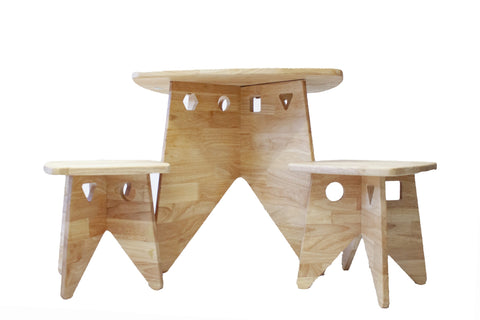 Q Toys Retro Wooden Table and Stool Set - Salsa and Gigi Australia 01