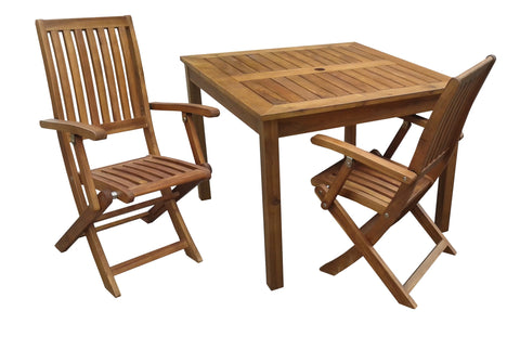 Q Toys Wooden Outdoor Table with 2 Arm Chairs Set - Salsa and Gigi Australia