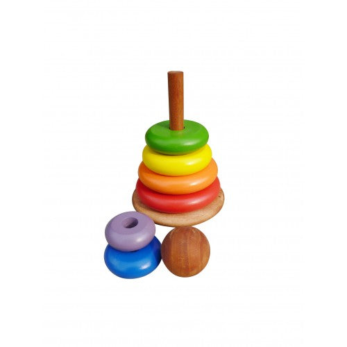 Coloured Bouncing Stacking Rings - Salsa and Gigi