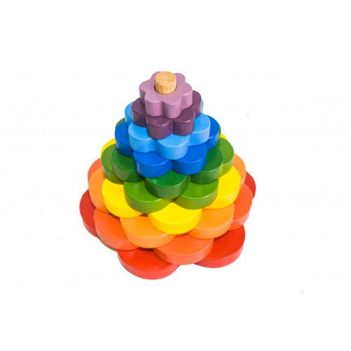 Coloured Flower Stacking Tower - Salsa and Gigi