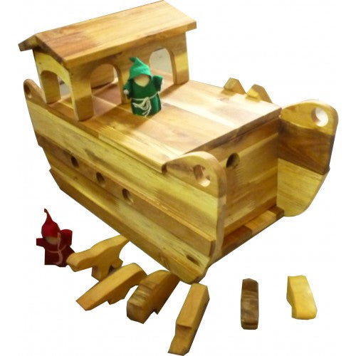 Q Toys Natural Wooden Noah's Ark Playset - Salsa and Gigi Australia
