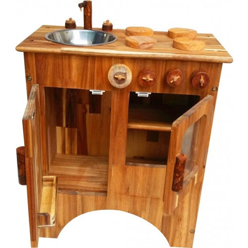 Q Toys Natural Wooden Stove and Sink Combination - Salsa and Gigi Australia