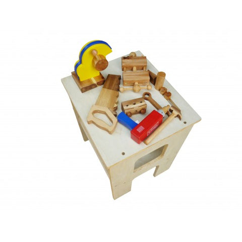 Q Toys Wooden Work Bench & Tools - Salsa and Gigi Australia