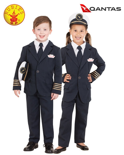 Qantas Captain's Uniform Costume Child - Salsa and Gigi Australia 7890