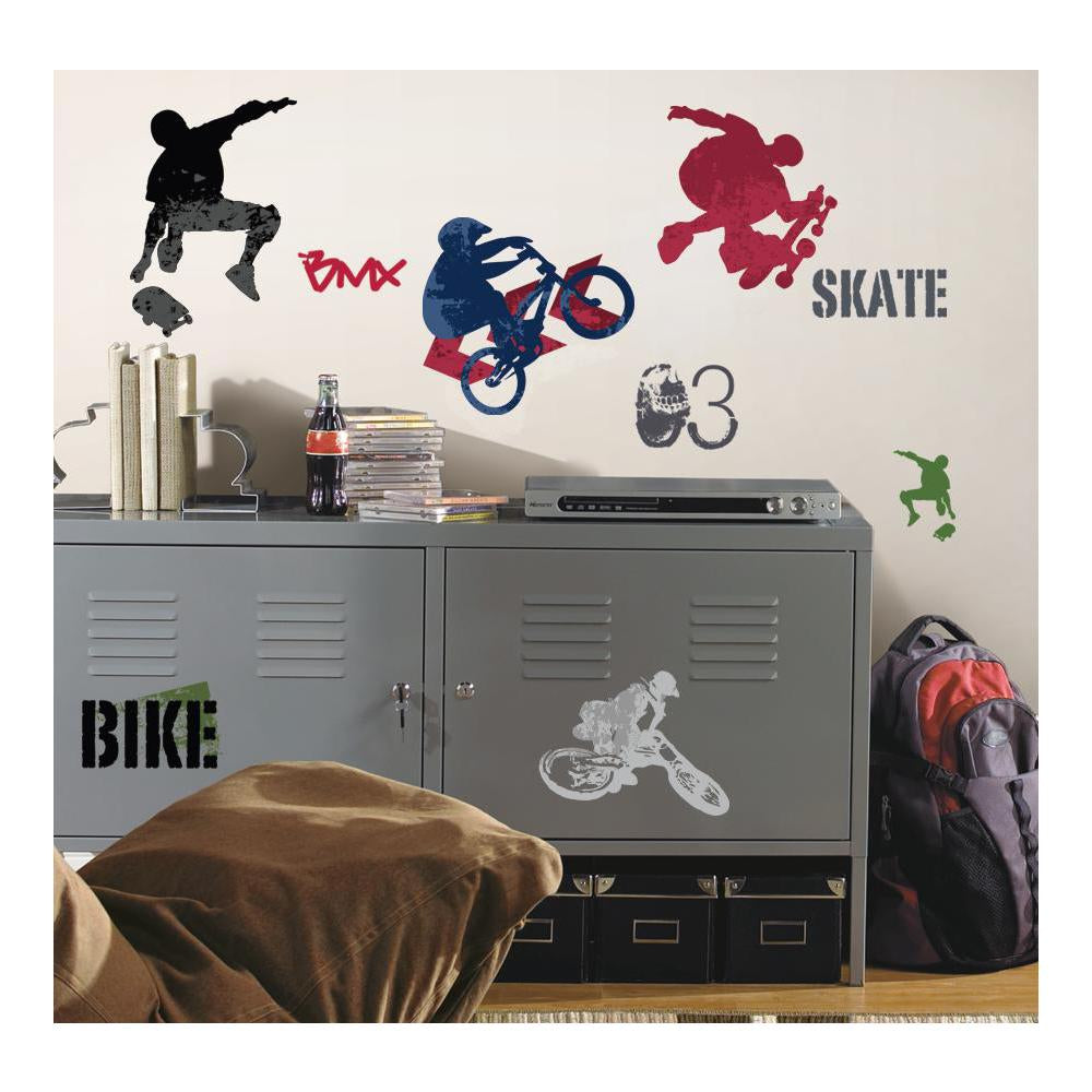 Extreme Sports Peel & Stick Wall Decals