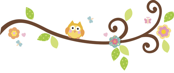 Happi Scroll Branch Peel & Stick Wall Decal