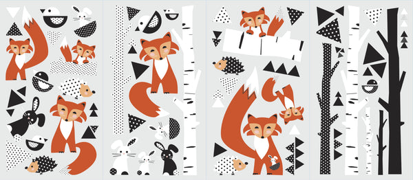 Fox Forest Peel and Stick Wall Decals