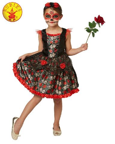 Red Rose Day of the Dead Girls Costume - Salsa and Gigi Australia 630709