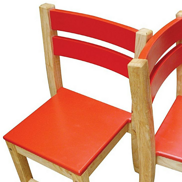 Red Top Timber Table with Two Matching Chairs - Salsa and Gigi