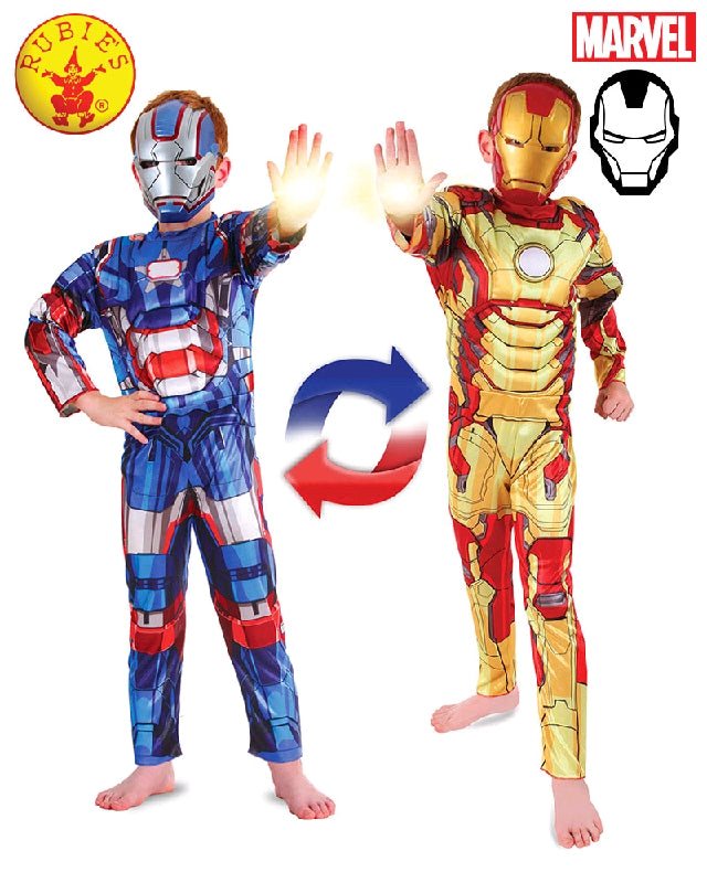 AVENGERS Ironman to Iron Patriot Deluxe Reversible Child - Salsa and Gigi