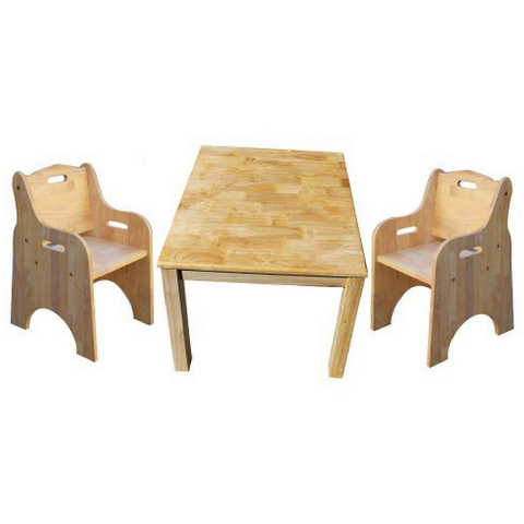 Q Toys Rubberwood Square Table and 2 Toddler Chairs - Salsa and Gigi Australia