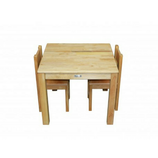 Q Toys Rubberwood Square Table and Chairs - Salsa and Gigi