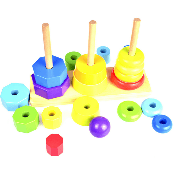 Tooky Toy Wooden Shape Tower - Salsa and Gigi Online Store