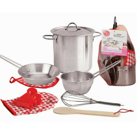 Stainless Steel Kids Cooking Playset - Salsa and Gigi
