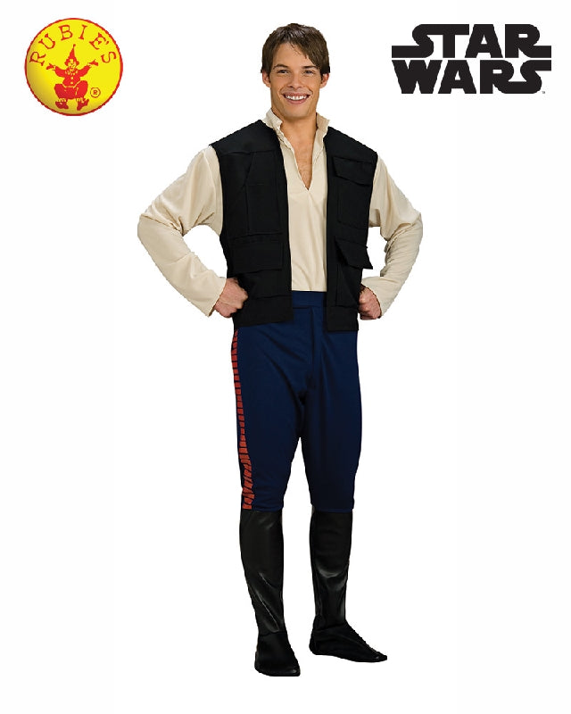 Star Wars Han Solo Men's Deluxe Costume - Adult Sizes Std, XL